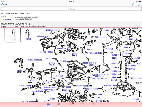 app shopper toyota parts diagram vin catalogs. Black Bedroom Furniture Sets. Home Design Ideas