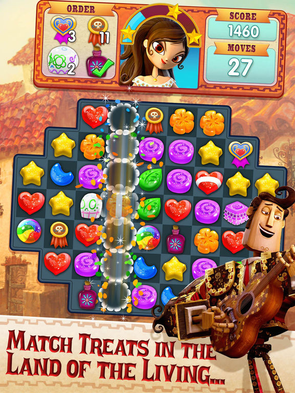 Sugar Smash: Book of Life - Free Match 3 Screenshot