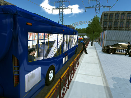 Police Bus City Transporter 3D-ipad-2