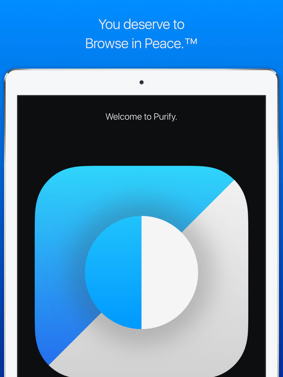 Purify: Block Ads and Tracking. Browse in Peace. Screenshot