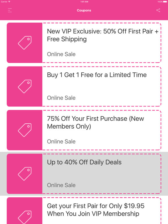 The website reaches a national audience, offering the top trends in the footwear industry to online shoppers across the United States. It offers exclusive discounts to VIP members. Furthermore, it gives out more discounts to shoppers having a ShoeDazzle promo code. So be sure to grab one below before you go on a shopping spree!