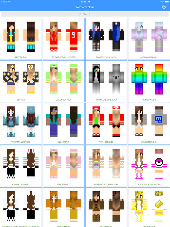 Best Cute And Sexy Girl Skin Of 2016 New Best Skins For Minecraft Pocket Edition By Khushbu Vora