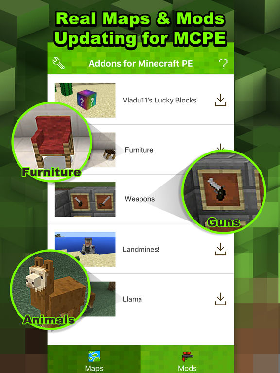 Addons - free maps for Minecraft PE (MCPE) by Qinshan Lin