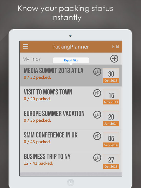 Packing Planner PRO - Checklist & To Do List Pack Screenshot