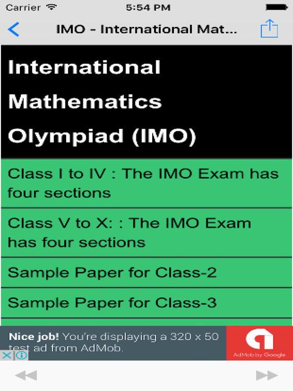 IMO - International Mathematics Olympiad Guide Maths Mock Exams