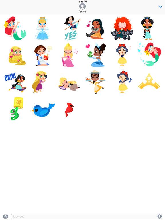 Disney Stickers Leading Ladies On The App Store